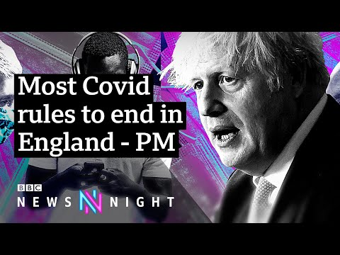 Coronavirus: Covid rules to end, but with cases rising is it the right time? - BBC Newsnight