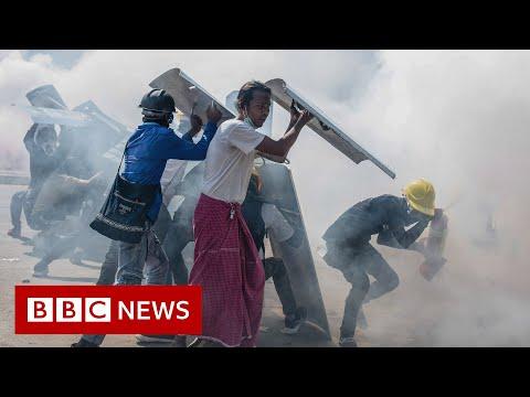 Myanmar police defect to anti-government militias as civil war looms - BBC News
