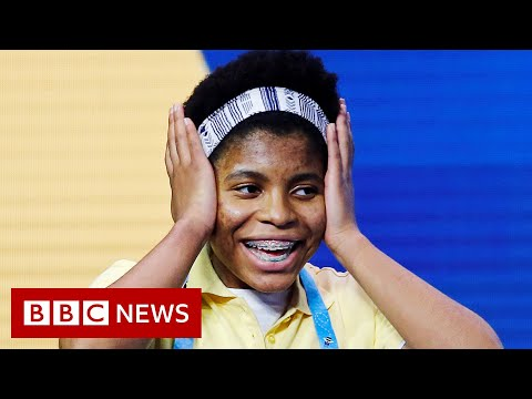 Teenage girl makes history at US spelling bee - BBC News