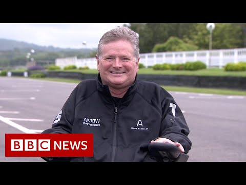 Quadriplegic driver makes racing debut - BBC News