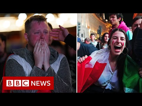 Fans react as England lose penalty shootout to Italy in Euro 2020 final - BBC News
