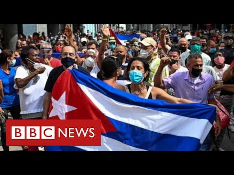 Mass protests in Cuba over economic crisis and Covid pandemic - BBC News