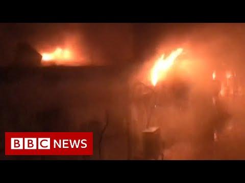 64 dead after Covid ward hospital 'oxygen tank' fire in Iraq - BBC News