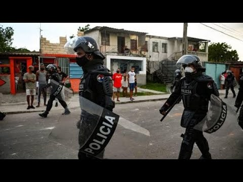 Police Patrol Cuban Streets After Rare Protests