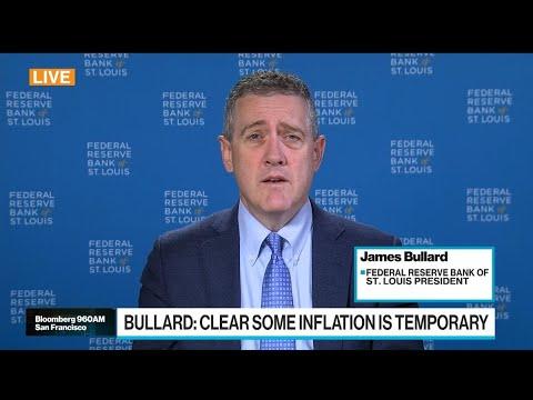 Fed's Bullard on Inflation, Taper Debate, Economy