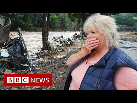 Dozens killed as Germany floods collapse buildings and submerge cars - BBC News