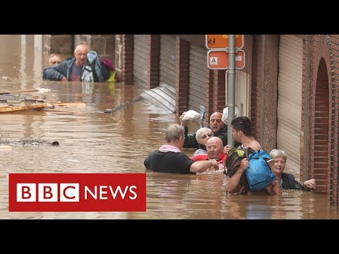 Catastrophic flooding across western Europe as politicians blame climate change - BBC News