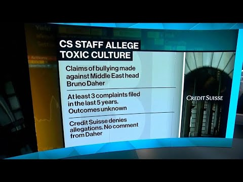 Credit Suisse Mideast Has Toxic Office Culture, Staff Say