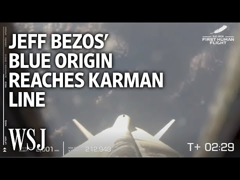 Jeff Bezos' Blue Origin Space Flight Reaches the Karman Line | WSJ