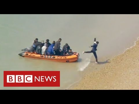 Record number of migrants cross English Channel on a single day - BBC News