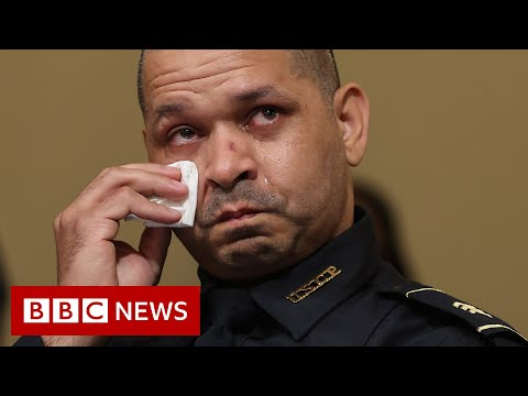 Emotional testimony of police who defended US Capitol in riot - BBC News