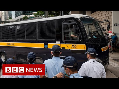 Hong Kong man first to be jailed under national security law - BBC News